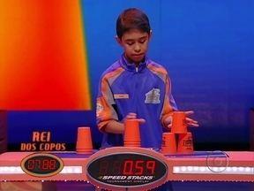 Ian Fernandes faz o tempo de 11,33 segundos - Pedro Junqueira é o Rei dos Copos desta semana
