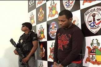Suspeito de ter conduzido moto usada no assassinato de Décio Sá é apresentado em São Luís - Marcos bruno silva de oliveira confessou ter recebido sete mil reais para conduzir a moto.