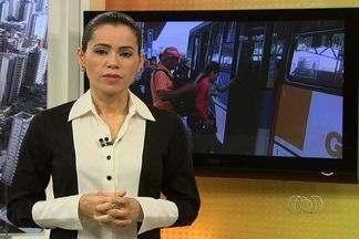 Veja os destaques do Bom Dia Goiás desta segunda-feira (12) - Usuários de terminais de ônibus são vítimas de assaltantes; motoristas cometem infrações perto de feiras de Goiânia; família tenta trazer para o Brasil filho supostamente sequestrado na China.
