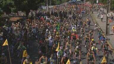 Passeio ciclístico da Globo Nordeste reúne 10 mil pessoas - Ciclistas acordaram cedo no domingo (11) para pedalar pelas ruas do Recife, num percurso de 15 quilômetros.