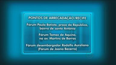 Campanha arrecada donativos para vítimas da seca - Alimentos e água podem ser deixados nos fóruns de Pernambuco, até o dia 9 de dezembro.