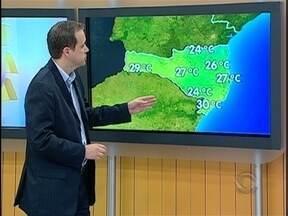 Confira a previsão do tempo para a terça-feira em Santa Catarina - Pancadas isoladas de chuva não estão descartadas em algumas cidades de SC.