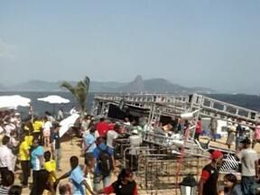 Corpo de baiana morta em acidente no Rio de Janeiro chega em Salvador - A vítima estava na Feira Nacional de Agricultura Familiar, quando um vendaval derrubou uma pesada estrutura de metal sobre o público.