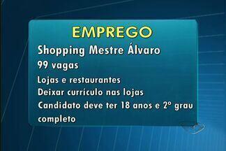 Confira as vagas de emprego disponíveis para o ES - Franquias de fast food estão com vagas abertas.