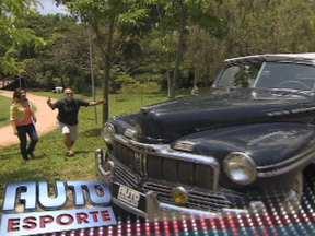 Lima Duarte mostra seu xodó, um Mercury - Ela tem 18 anos e vai domar um dos motores mais furiosos do mundo: são 2,3 mil cilindradas. O risco de deixar pneus com desenhos diferentes no carro. Lima Duarte mostra o xodó, um Mercury.