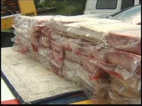 50 quilos de cocaína são apreendidos na BR- 153 em Rio Preto, SP - A Polícia Rodoviária apreendeu 50 quilos de cocaína na BR-153 em São José do Rio Preto (SP) neste fim de semana. Essa foi a segunda apreensão de drogas na região em menos de uma semana.