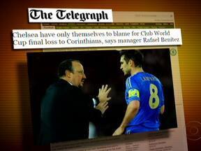 Jornais britânicos lamentam derrota no Mundial de Clubes - No Telegraph, o técnico Rafael Benitez admite que o Chelsea foi destruído pelo Corinthians. No Daily Mail, um dos jogadores acusa a própria equipe de falta de garra. Já o italiano Corriere della Sera noticiou que o time inglês foi a nocaute.
