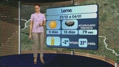 Confira a previsão do tempo para a região de São Carlos nesta sexta-feira (21) - Confira a previsão do tempo para a região de São Carlos nesta sexta-feira (21).