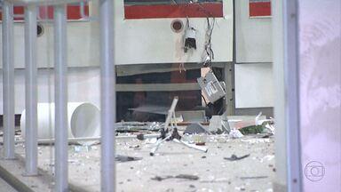 Caixa eletrônico é explodido por bandidos em Belo Horizonte - Ninguém foi preso.