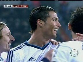 Cristiano Ronaldo marca três vezes em goleada do Real Madrid na Copa do Rei da Espanha - Atacante português não se deixou abater por derrota no prêmio Bola de Ouro e foi fundamental para a classificação da equipe no torneio.