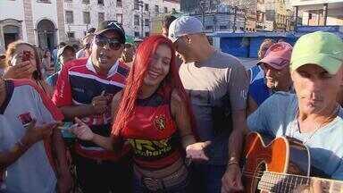 Batidão do GE: música, diversão e futebol - Musa do Calypso canta e coloca Náutico, Sport e Santa Cruz