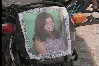 População mobilizada na busca por Fernanda Hellen - Hoje a tarde teve carreata do Alto do Mateus em direção ao Centro de João Pessoa.
