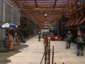 Máquina que vai perfurar a Linha 4 do Metrô chega em março - A previsão é que o equipamento tivesse chegado em janeiro. Segundo os engenheiros, a partir do segundo semestre de 2013, as obras deve andar em ritmo mais acelerado.