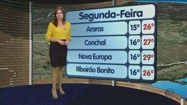 Confira a previsão do tempo para São Carlos e região nesta segunda-feira (21) - Confira a previsão do tempo para São Carlos e região nesta segunda-feira (21).
