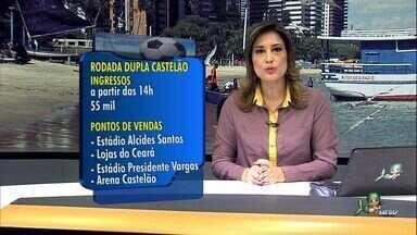 Começam vendas de ingresso para jogo de reabertura do estádio Castelão - Começam vendas de ingresso para jogo de reabertura do estádio Castelão. Partida será entre Fortaleza e Esporte, às 16h de 27 de janeiro.