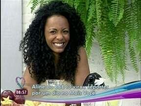 Relembre a bombástica passagem da ex-BBB Aline pelo Mais Você - A ex-sister mostrou a calcinha ao vivo para Ana Maria