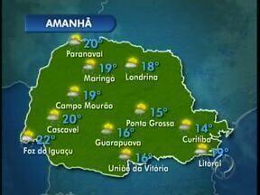 Previsão de pancadas de chuva na região de Maringá nessa quinta-feira - Mas a temperatura continua alta podendo chegar a 31 graus