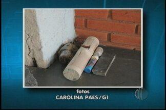 Transferido homem que foi preso com artefatos explosivos - Homens do Gate vieram até o município de Ferraz de Vasconcelos e detonaram bombas. O homem que estava com o material foi preso.