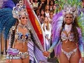 Daiana e Nayra estão na final do Musa do Carnaval do Rio - Passistas da Beija-Flor e da Vila Isabel sambam no palco do Caldeirão