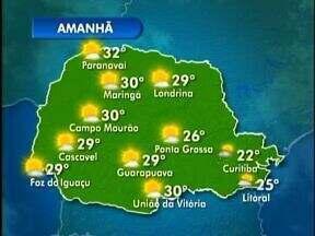 Domingo terá pancadas de chuva no litoral - Temperaturas sobrem mais devagar neste domingo