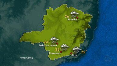 Domingo será de céu nublado em todas as regiões de Minas Gerais - Uma frente fria que está sobre a área central do país é a causa do tempo nublado. Há previsão de chuva mais intensa no Leste e no Norte de Minas.