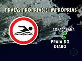 Apenas duas praias do Rio são recomendadas para banho - O Inea divulgou nove boletins da qualidade da água das praias da cidade do Rio. As praias de Copacabana e do Diabo foram recomendadas em todos os boletins.