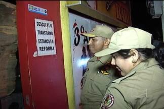 Corpo de Bombeiros fecha casas noturnas na capital - Durante o fim de semana, o Corpo de Bombeiros vistoriou e interditou casas noturnas em São Luís.