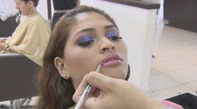 Amazônia TV dá dicas de maquiagens para o Carnaval - Muitas cores, brilho e o cuidado para fixar bem os produtos no rosto.