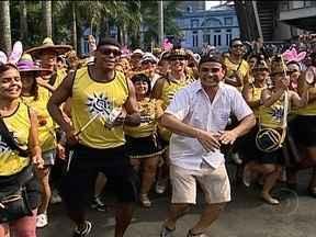 Bloco Kizomba comemora vitória da Vila Isabel no Centro do Rio - A concentração do maior bloco de rua deste sábado (16) começou às 9h30. Segundo os organizadores do Kizomba, são esperadas 20 mil pessoas. Neste fim de semana, quase 50 blocos devem animar os foliões.