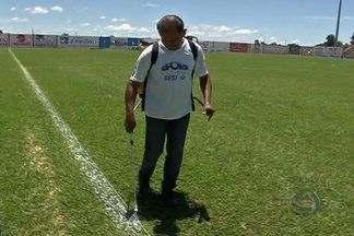 Estádio em Três Lagoas recebe últimos retoques para jogo - Estádio em Três Lagoas recebe últimos retoques para jogo