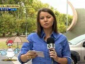 Telespectadores perguntam sobre as condições do tempo - Galo Bendito reponde aos telespectadores.