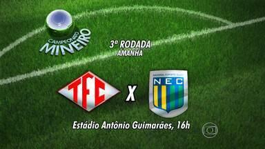 Terceira rodada do Campeonato Mineiro é neste fim de semana - Vai ter clássico entre Atlético-MG e Cruzeiro.