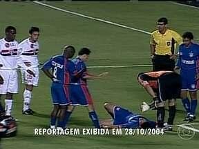 Jogador Serginho teve morte súbita em campo em 2004 - O atleta, do São Caetano, teve uma parada cardiorrespiratória durante uma partida contra o São Paulo. O primeiro a perceber a gravidade foi o goleiro Silvio Luiz, que pediu socorro.