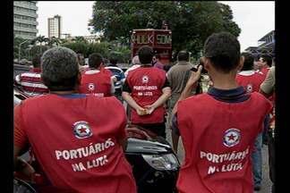 Trabalhadores portuários fazem paralisação em Belém - Confira na reportagem de Tainá Aires.