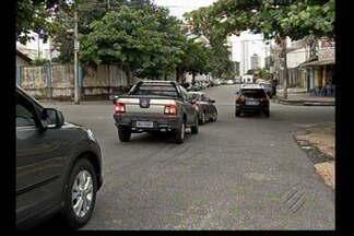 Pedestres e motoristas reclamam de falta de sinalização no bairro do Telégrafo, em Belém - Cruzamento da travessa Djalma Dutra com rua do Una está complicado.