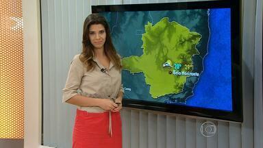 Tempo permanece instável nos próximos dias em regiões de Minas - Temperatura cai, mas sensação deve ser de calor.