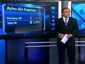 Ações da Vale sobem e as da Petrobras descem - Carlos Alberto Sardenberg afirmou que, apesar de ter um balanço ruim no último trimestre, a Vale está com suas ações com alta de 3,10%. Já a Petrobras segue com seu processo de desvalorização.