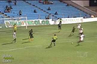 Eloir marca o primeiro gol do Sampaio diante do Cordino - Eloir acertou um chute de fora da área e abriu caminho para a goleada Tricolor no Nhozinho Santos