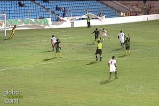 Pimentinha marca o terceiro do Sampaio contra o Cordino - Atacante recebeu passe de Arlindo Maracanã e acertou um belo chute para ampliar a vitória Tricolor, no Nhozinho Santos