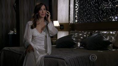 Lívia descobre que Wanda está sendo ameaçada - A chefona avisa a Russo que elimina Wanda se for preciso