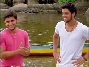 Bruno Gissoni e Rodrigo Simas aprendem pesca caiçara em Paraty - Angélica bate um papo com os irmãos sobre a ligação deles com o esporte e a participação de Gissoni, como pescador, em Flor do Caribe