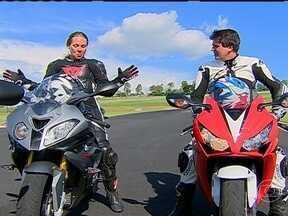 Motos mil se reinventam - O piloto de testes do Autoesporte apresenta motos superesportivas e leva uma convidada para a pista,.