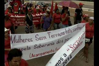Mulheres de entidades do campo e da cidade fazem marcha em Marabá - Em Marabá, sudeste do estado, o Dia Internacional da Mulher foi lembrado com uma marcha que reuniu mulheres do campo e da cidade. Elas ocuparam parte da rodovia Transamazônica com faixas e cartazes.