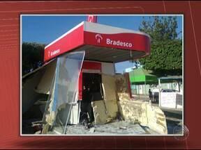 Bandidos explodem caixas eletrônicos em duas cidades da Bahia - De acordo com o Sindicato dos Bancários, 25 ocorrências envolvendo bancos no estado foram registradas em 2013.