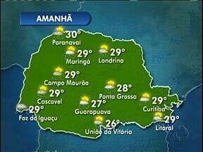 Faz calor e chove neste sábado em Curitiba - Nas praias e na capital faz 29 graus.