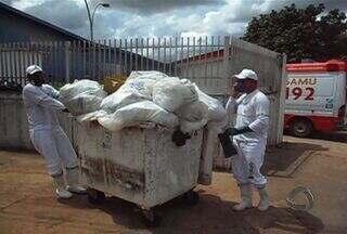 Promotoria do Meio Ambiente considera grave situação do lixo hospitalar em Campo Grande - De acordo com o promotor do meio ambiente, os catadores não deveriam frequentar o lixão, devido aos resídios de lixo hospitalar misturados com lixo comum, prejudicando a saúde dos trabalhadores.