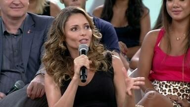 Rita Guedes: 'O importante é a pessoa se sentir bem' - Atriz acha que a vontade do homem sobre implante deve prevalecer