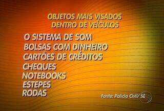 Crescem em Sergipe furtos de objetos deixados dentro de veículos - Saiba quais os objetos que são deixados dentro do carro que são os mais visados pelos criminosos. Polícia recomenda a retirada dos objetos quando o motorista for estacionar o veículo.