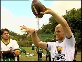 Atleta dos Estados Unidos dá treino de Futebol Americano para o Ipatinga Tigres - Primeira clinica de Futebol Americano de Minas Gerais é realizada em Ipatinga. Veja as dicas de Matt Bassuener.