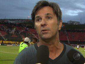 Técnico Caio Júnior comenta o triunfo do Vitória no último sábado - Para o treinador, o rubro-negro teve um segundo tempo abaixo da média, mas destacou que em uma estreia o importante é vencer.
